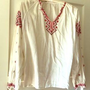 Vintage hand embroidered ethnic boho blouse